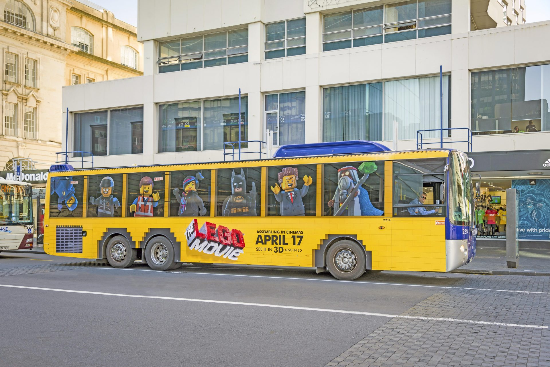 Perforated Film featuring Lego on a Bus