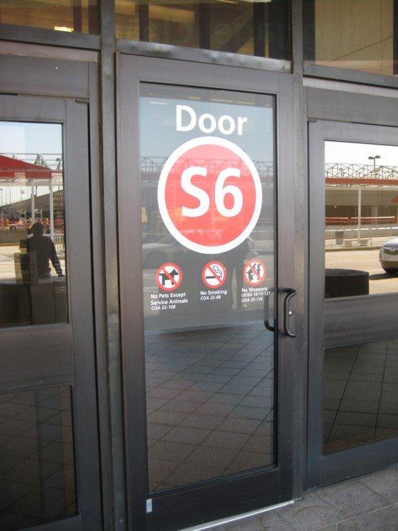 Airport Security Door One Way Vision 1