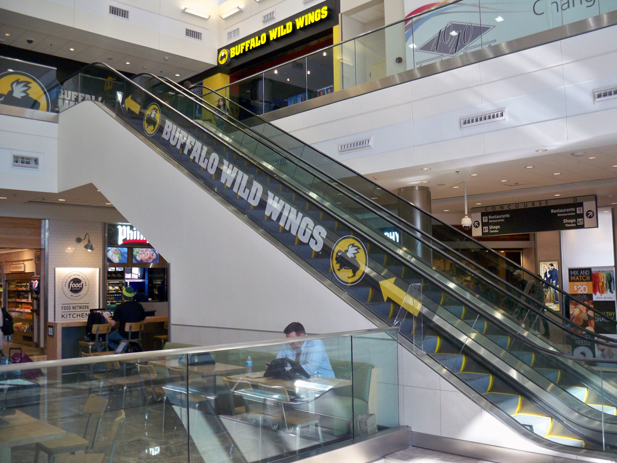 buffalo-wild-wings-escalator-contra-vision-window-advertising