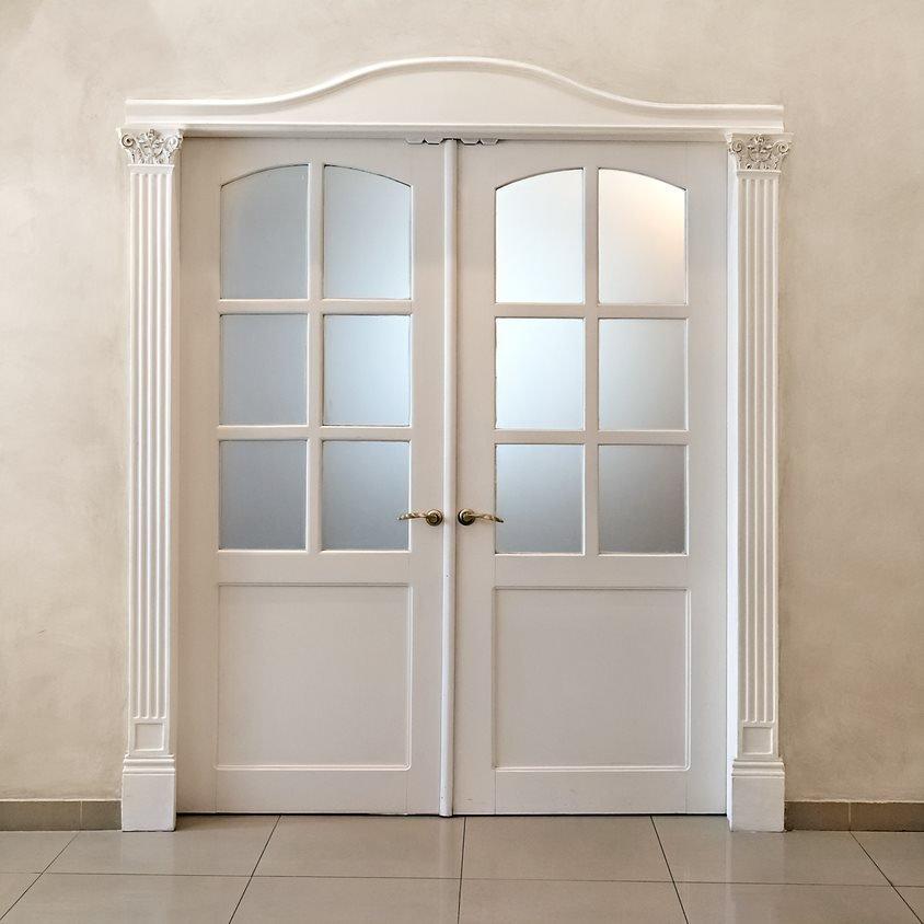 Frosted Window Film Door